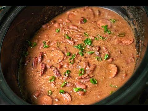 beans   sausage   crock pot