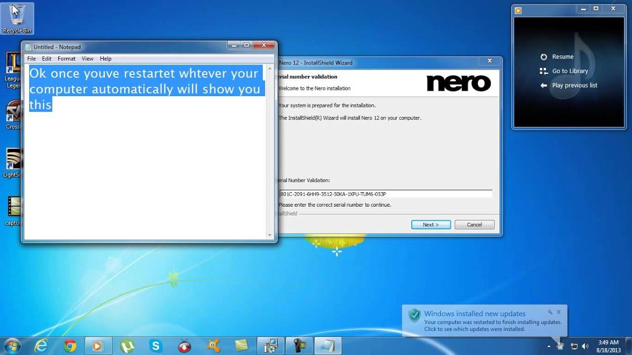 nero 12 platinum serial number + patch