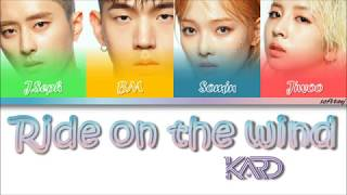 KARD - Ride On The Wind [Color Coded HAN/ROM/ENG Lyrics] Resimi