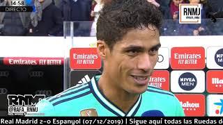 Download Declaraciones de VARANE post Real Madrid 2-0 Espanyol (07/12/2019) Mp3 and Videos