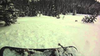 Teaching my little brother how to shred Whistler's steep and deep pow