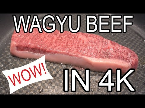 Cooking 11+ Marble Score Wagyu Kobe Beef - Chocolate and Jelly Bean Fed (4K)