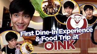 FIRST DINE-IN EXPERIENCE & FOOD TRIP AT OINK! | Robi Domingo