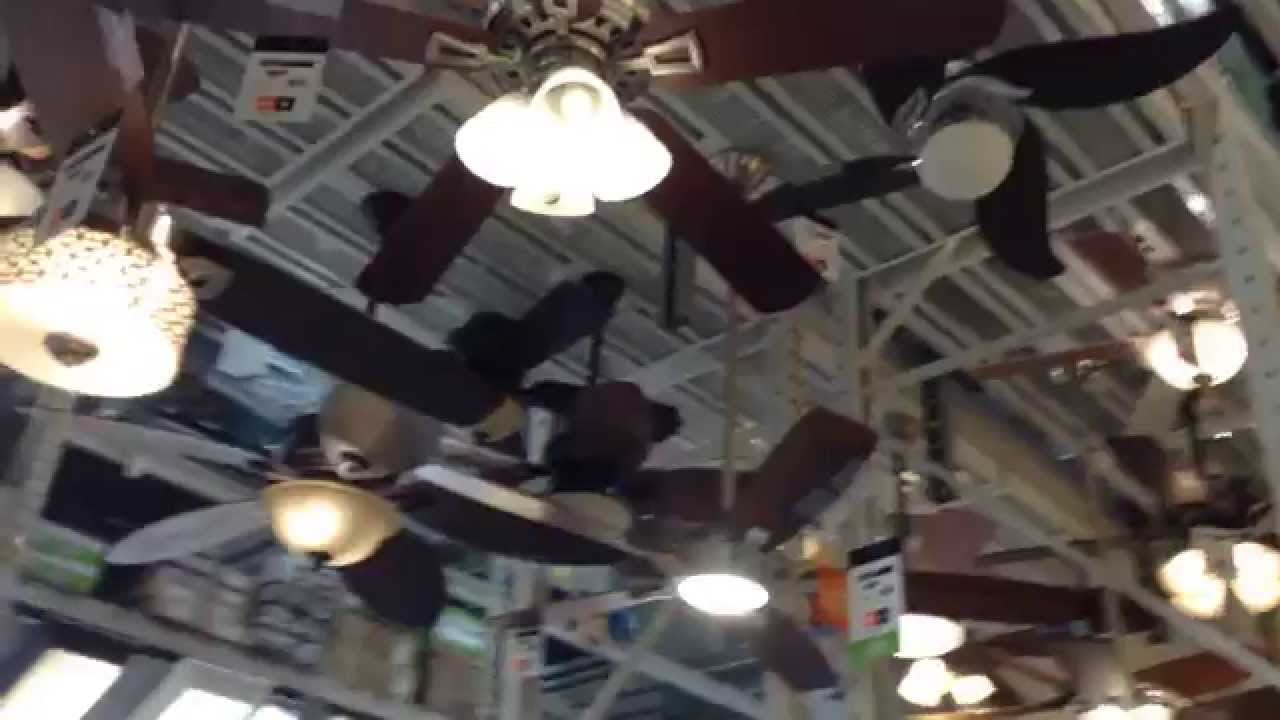 Ceiling fan display 56 canarm industrial ceiling fans at the ceiling fan display 56 canarm industrial ceiling fans at the home depot youtube aloadofball Images