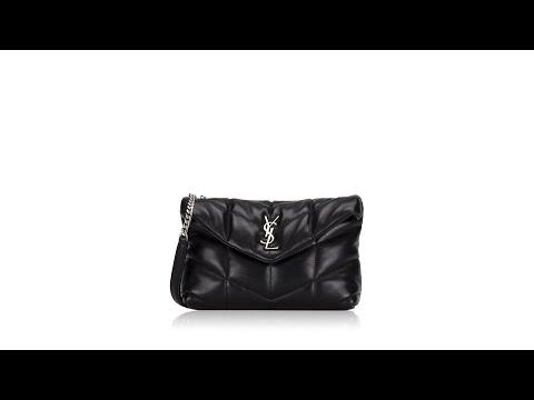 Saint Laurent Loulou Puffer Toy Chain Bag Black