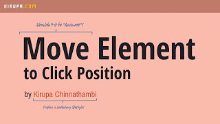 Move Element to Mouse Click Position