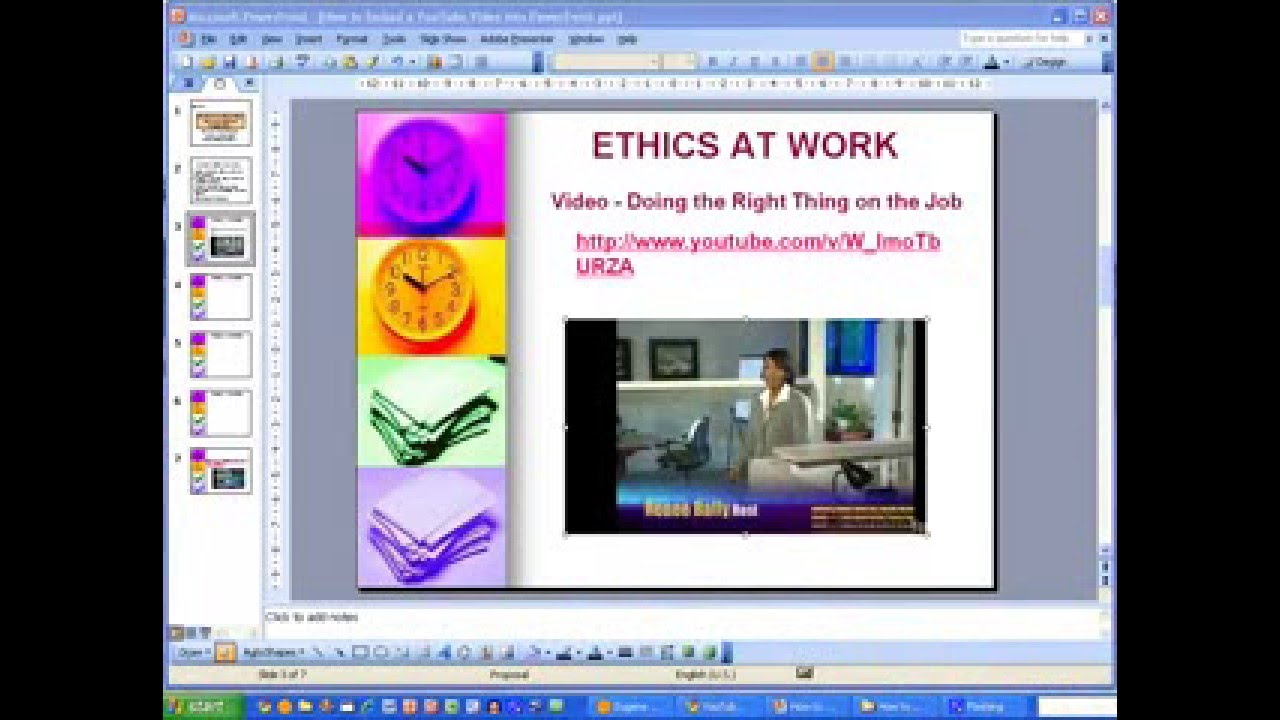 How Toembed A Youtube Video Into Powerpoint 2003