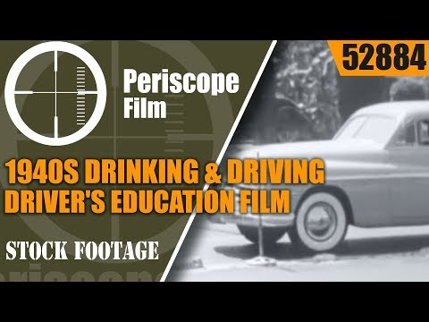 1940s DRINKING & DRIVING  DRIVER'S EDUCATION FILM By LOS ANGELES POLICE DEPT. 52884