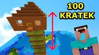 Jeż Na Ferajnie 4- DOM NOOBA 100 KRATEK NAD ZIEMIĄ! Minecraft Tritsus