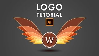 How I create a Wings Logo - Illustrator Tutorial
