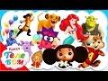 Азбука для малышей с героями мультфильмов. Развивающие мультики для детей. Телебом