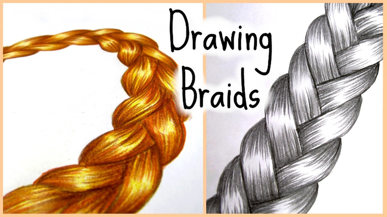 My drawing tips n 2 dessiner des tresses youtube - Comment faire une tresse indienne ...