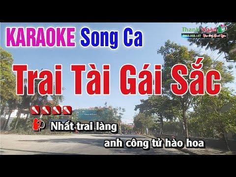 Trai Tài Gái Sắc Karaoke Tone Song Ca ( Beat Chuẩn ) - Nhạc Sống Thanh Ngân