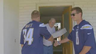 Chargers Surprise Neighbors with Swag thumbnail