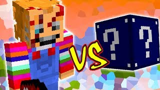 CHUCKY O BONECO DO MAL VS. LUCKY BLOCK MEIA NOITE (MINECRAFT LUCKY BLOCK CHALLENGE)
