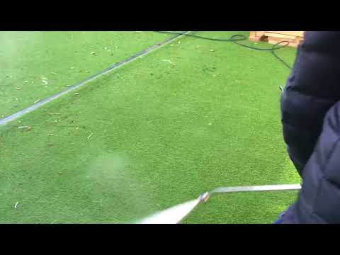 Pressure washing artificial grass carried out by Supreme All-Clean, Essex