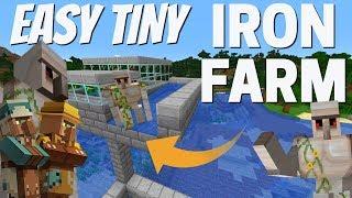 Minecraft Iron Farm: Survival Friendly TINY Iron Golem Farm with 5+ stacks p/hr (Avomance 2020)