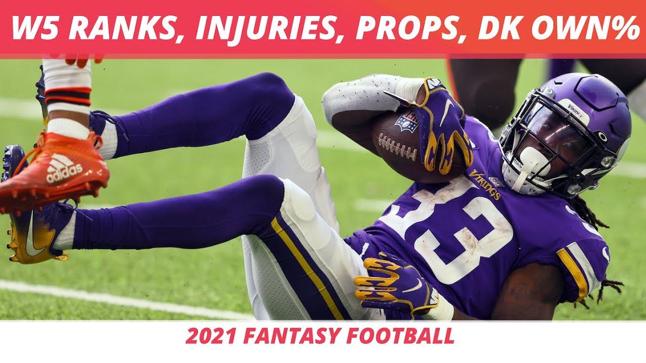 Download 2021 Week 5 Rankings + NFL Injury Report   Week 5 DraftKings Ownership   Week 5 Props