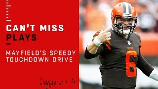 Baker Mayfield Leads Lightning-Fast TD Drive Before Halftime