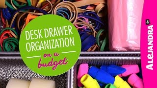 Desk Drawer Organization On A Budget (part 3 Of 4 Dollar Store Organizing)
