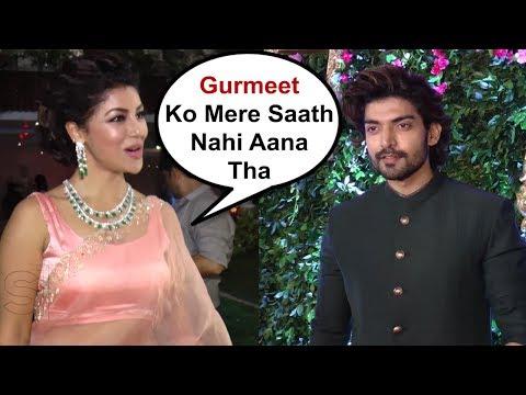 Debina Bonnerjee And Gurmeet Choudhary Arrive Separately At Prince - Yuvika Wedding