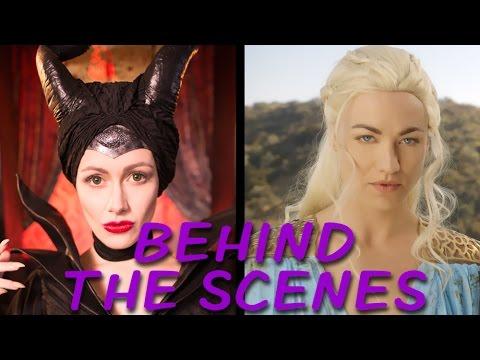 MALEFICENT vs DAENERYS Behind the Scenes (Princess Rap Battle)