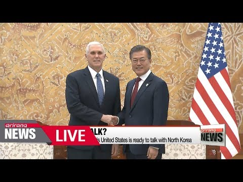 [LIVE/ARIRANG NEWS] U.S. Vice President Mike Pence signals United States is ready to talk...