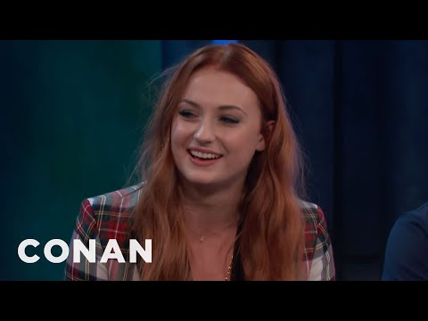 Sophie Turner & Maisie Williams Have Matching Tattoos  - CONAN on TBS