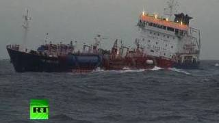 Video of chemical tanker sinking off French coast