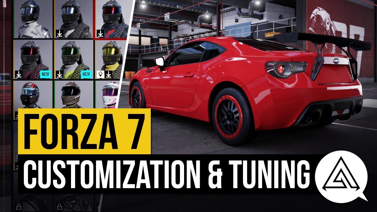 forza motorsport 7 all tuning customization options all driver