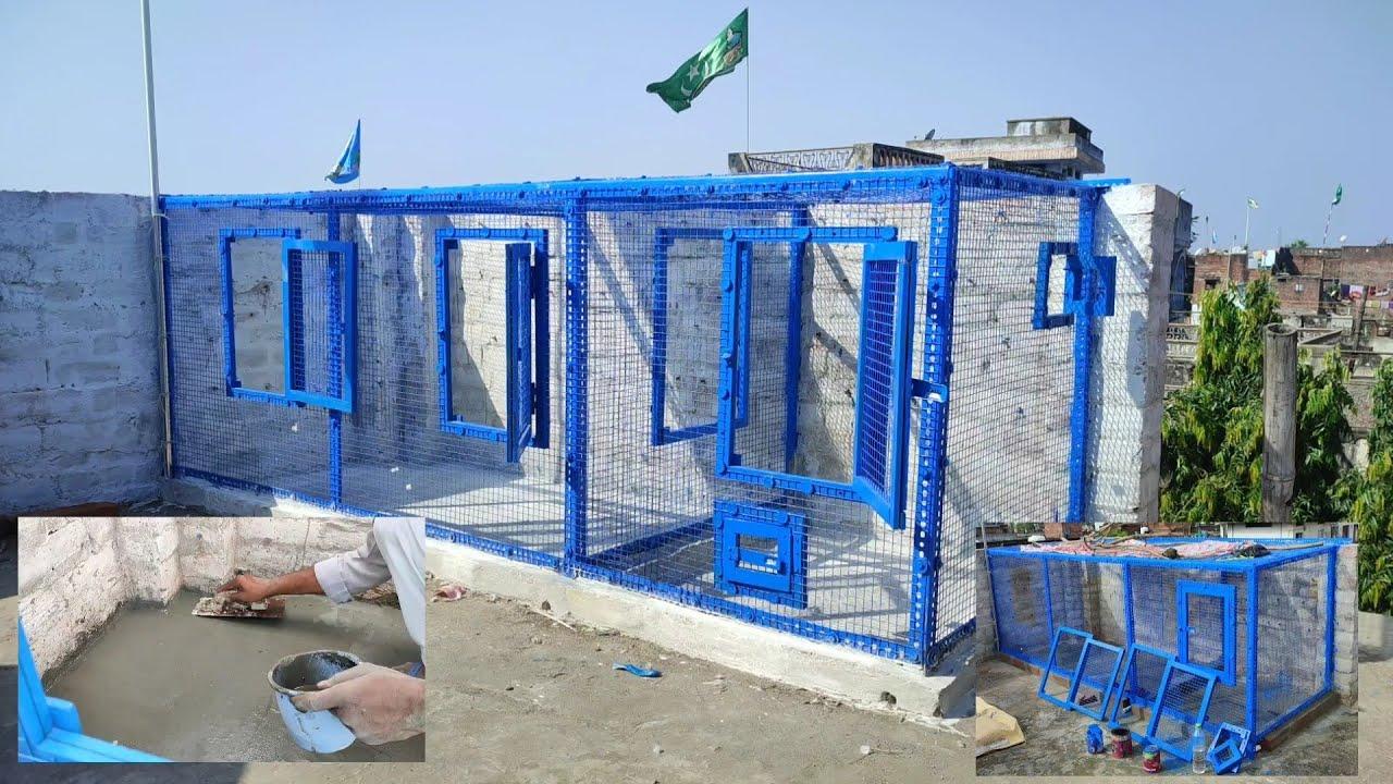 Purani cheezon sey new jaal hogaya tayyaar | making cage for pigeon, budgies, zebra finch | part 2