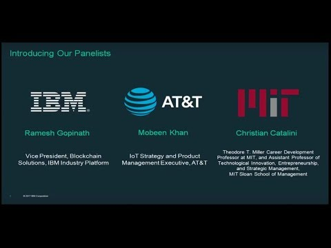 Genius of Things:  Combining IoT and Blockchain  - MIT Technology Review Panel