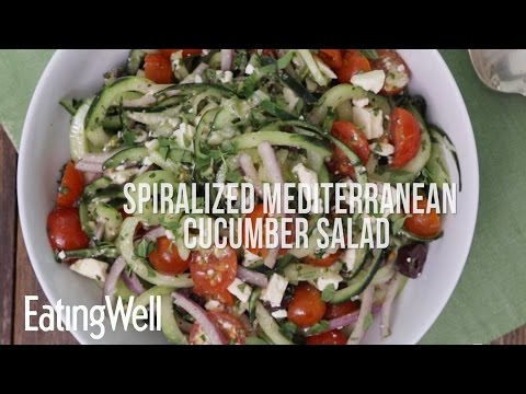 Spiralized Mediterranean Cucumber Salad | EatingWell