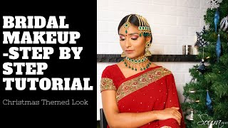Indian/Bollywood/South Asian Bridal Makeup | Step by Step Tutorial | Beauty By Meet