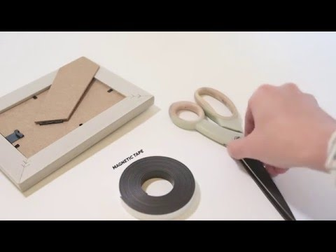 How To Make: Fridge Magnet Picture Frames