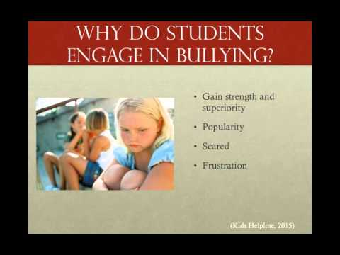 YOUTH, HEALTH AND WELLBEING VIDEO - PHYSICAL BULLYING