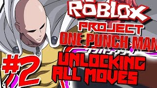 UNLOCKING ALL MOVES FOR SUPER HUMAN! | Roblox: Project OPM (One Punch Man) - Episode 2