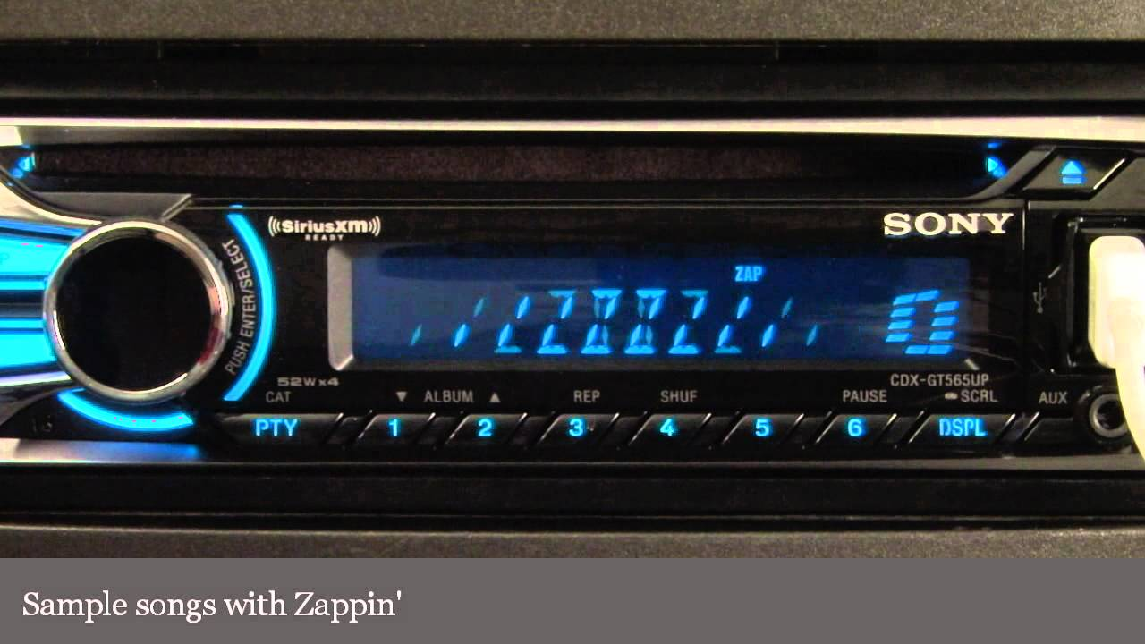 sony cdx gt565up cd receiver display and controls demo crutchfield video Sony Car Stereo Cdx Gt565up Wiring Diagram