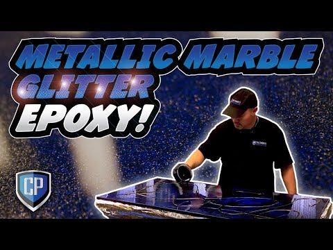 Glitter Epoxy - Blue & Silver