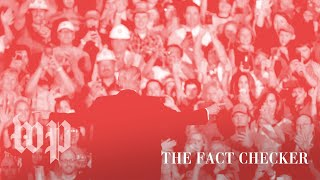 One Trump rally: 76 percent of claims are dubious