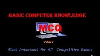 Most Important MCQ on Basic Computer Knowledge