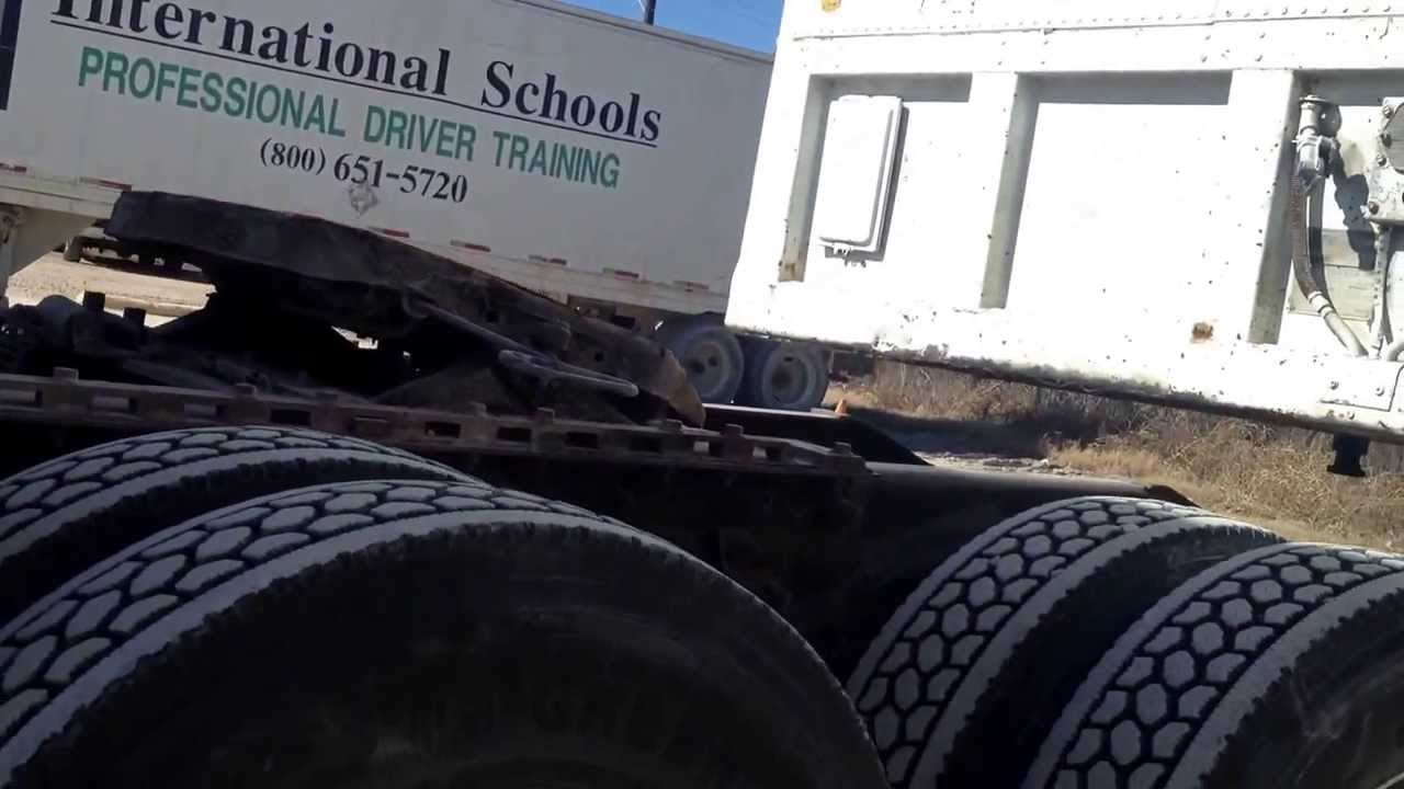 Coupling And Uncoupling : International trucks driving school trailer coupling and