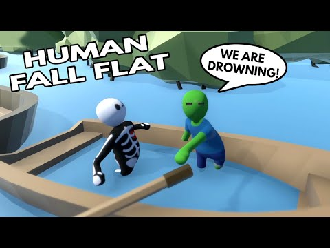 MINECRAFT ZOMBIE AND SKELETON WORKING TOGETHER in HUMAN FALL FLAT |