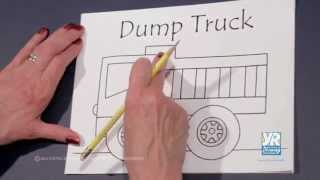 Teaching Kids How to Draw: How to Draw a Cartoon Dump Truck