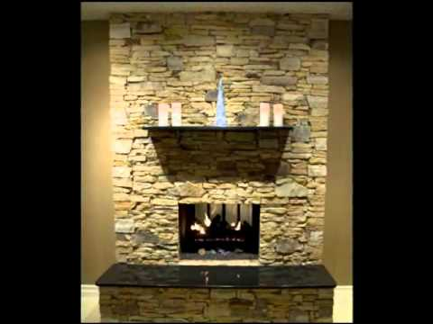 Brick Fireplace Transformed to Stone Fireplace - YouTube