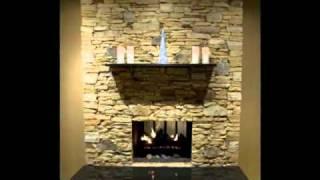 Brick Fireplace Transformed To Stone Fireplace