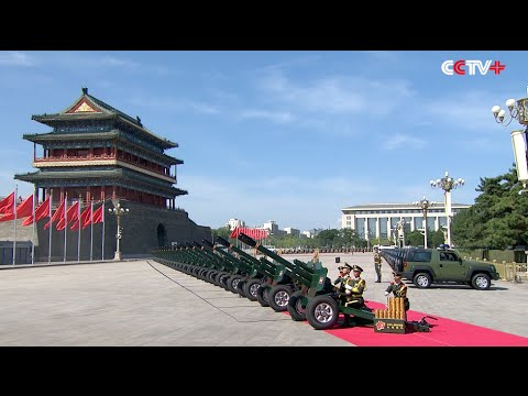 Chinese V-Day Ceremony Begins with 70-Gun Salute