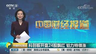 [中国财经报道]科创板开盘24股飘红 铂力特领涨  CCTV财经