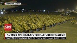 Garuda TNI Sujud Syukur Saat Kembali ke Indonesia Usai Jalani Misi