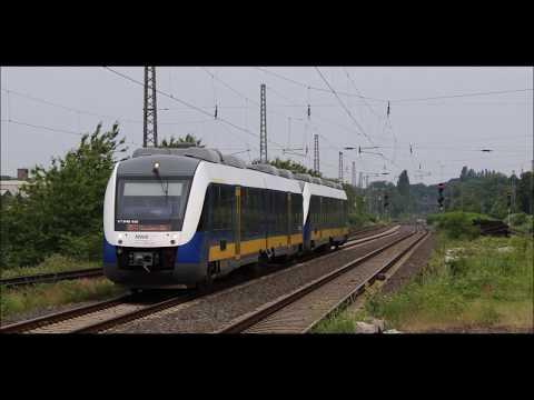 Bahnverkehr in Moers   mit LINT, G 2000BB, VT98, 185